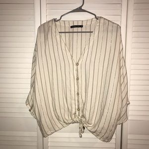 Abercrombie & Fitch Striped Slouchy Blouse
